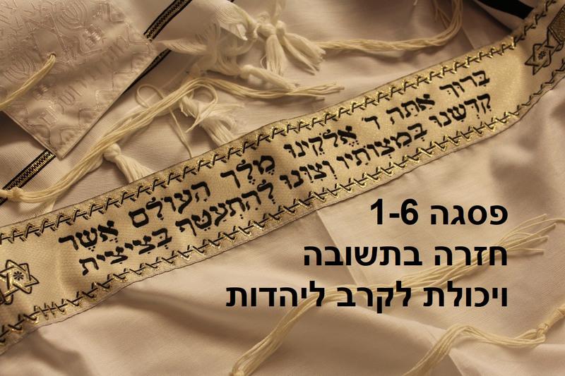 פסגה 1-6 חזרה בתשובה ויכולת לקרב ליהדות